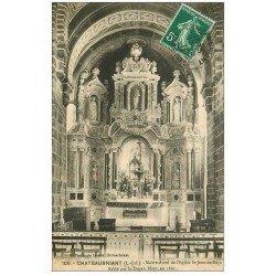 carte postale ancienne 44 CHATEAUBRIANT. Maître-Autel Eglise 1915