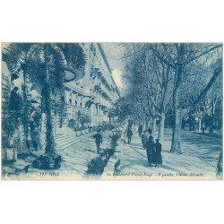 carte postale ancienne 06 NICE. Boulevard Victor Hugo Hôtel Atlantic 1922