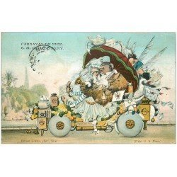 carte postale ancienne 06 NICE. Carnaval. Monsieur Carnaval 1907 (timbre absent)...