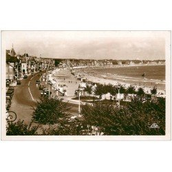 carte postale ancienne 44 LA BAULE. La Plage. Carte Photo 1937