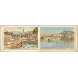 carte postale ancienne 06 NICE. Carte postale double repliable. Paillon et Port. Raymond
