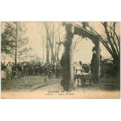 carte postale ancienne 02 ACONIN. Messe Militaire. Guerre 1914-18