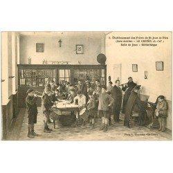 carte postale ancienne 44 LE CROISIC. Bibliothèque Salle de Jeux. et Musique. Frères Saint-Jean de Dieu. Envoyée qu'en 1964