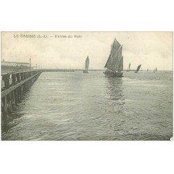 carte postale ancienne 44 LE CROISIC. Entrée du Port 1910
