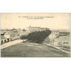 carte postale ancienne 44 LE CROISIC. Etablissement des Frères de Saint-Jean-de-Dieu 1924