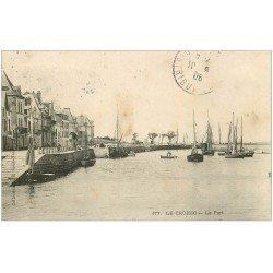 carte postale ancienne 44 LE CROISIC. Le Port 1906