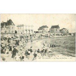 carte postale ancienne 44 LE CROISIC. Plage du Port Lion 1913
