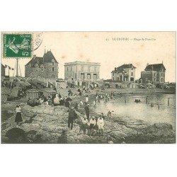carte postale ancienne 44 LE CROISIC. Plage Port-Lin 1908