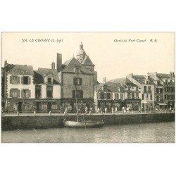 carte postale ancienne 44 LE CROISIC. Quais du Port Ciguet