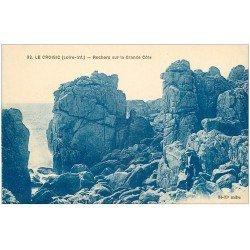 carte postale ancienne 44 LE CROISIC. Rochers Grande Côte