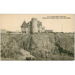 carte postale ancienne 44 LE POULIGUEN. Chalet Grande Côte et Anse des Grottes