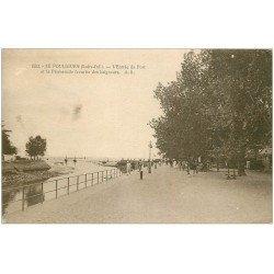 carte postale ancienne 44 LE POULIGUEN. Entrée du Port 1929. Tampon Notaire Lubeaux à Pouliguen