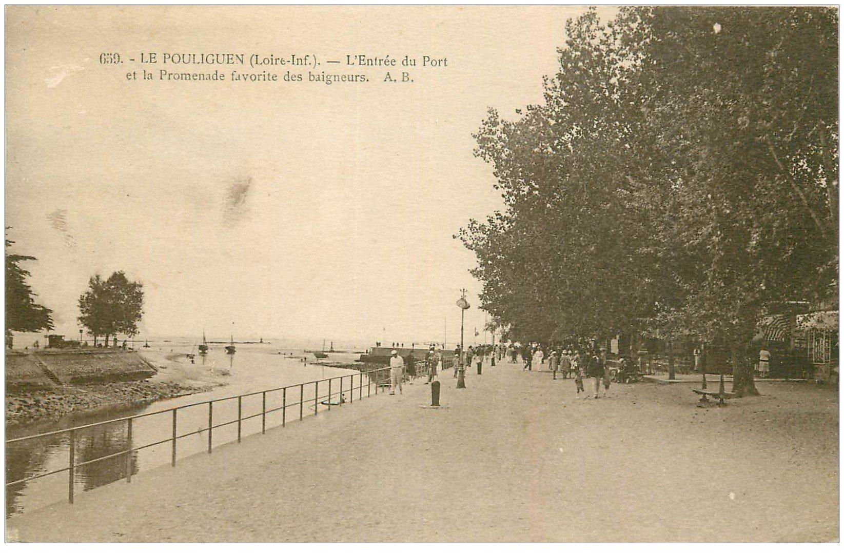 44 Le Pouliguen Entr E Du Port 1929 Tampon Notaire