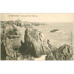 carte postale ancienne 44 LE POULIGUEN. Grande Côte à Penchâteau 1904