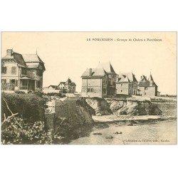 carte postale ancienne 44 LE POULIGUEN. Groupe Chalets à Penchâteau