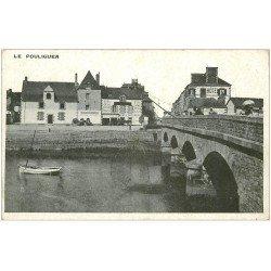 carte postale ancienne 44 LE POULIGUEN. La Pêche au Carrelet sur le Pont