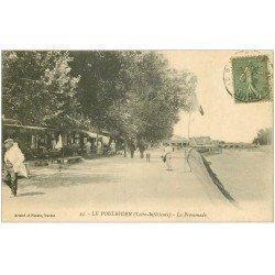 carte postale ancienne 44 LE POULIGUEN. La Promenade 1923. Magasin de Cartes Postales