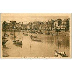 carte postale ancienne 44 LE POULIGUEN. Le Port 1932