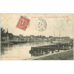 carte postale ancienne 44 LE POULIGUEN. Le Quai 1907