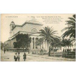 carte postale ancienne 06 NICE. Eglise Saint-Jean Baptiste ou du Voeu