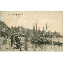 carte postale ancienne 44 LE POULIGUEN. Pêcheurs Quai et Port