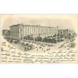 carte postale ancienne 06 NICE. Hôtel Continental vers 1902