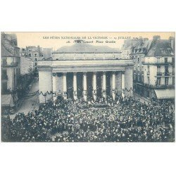 carte postale ancienne 44 NANTES. Concert Place Graslin. Fêtes de la Victoire du 14 Juillet 1919