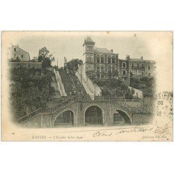 carte postale ancienne 44 NANTES. Escalier Sainte-Anne 1903