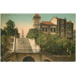 carte postale ancienne 44 NANTES. Escaliers de Sainte-Anne (petite restauration)