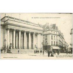 carte postale ancienne 44 NANTES. Grand Théâtre Rue Crébillon