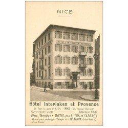 carte postale ancienne 06 NICE. Hôtel Interlaken et Provence 26 Avenue Durante. Idem Le Fayet