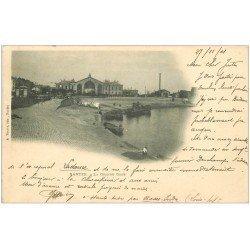 carte postale ancienne 44 NANTES. La Grande Gare 1901