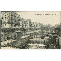 carte postale ancienne 44 NANTES. L'Ecluse Quai d'Orléans 1923