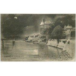 carte postale ancienne 44 PORNIC. Château Entrée du Port 1908