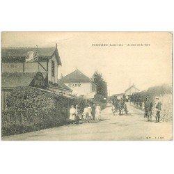 carte postale ancienne 44 PORNICHET. Café Buvette Avenue de la Gare