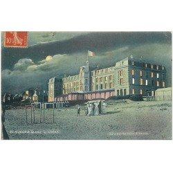 carte postale ancienne 44 PORNICHET. Casino la nuit 1907