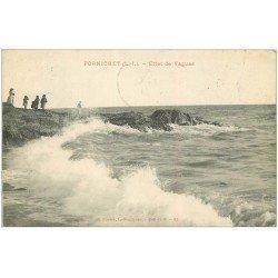 carte postale ancienne 44 PORNICHET. Effet de Vagues 1911
