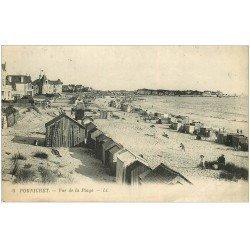 carte postale ancienne 44 PORNICHET. La Plage 1920