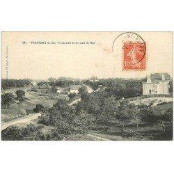 carte postale ancienne 44 PORNICHET. Route de Mazi 1910