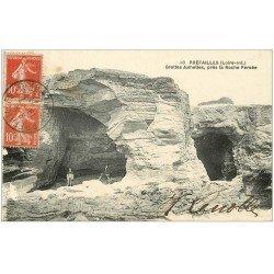 carte postale ancienne 44 PREFAILLES. Grottes Jumelles 1921