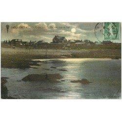 carte postale ancienne 44 PREFAILLES. La Plage au clair de Lune 1923