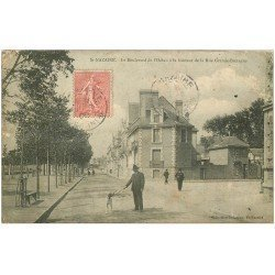 carte postale ancienne 44 SAINT-NAZAIRE. Boulevard Océan rue Grande-Bretagne 1908