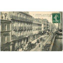 carte postale ancienne 44 SAINT-NAZAIRE. Hôtel de Bretagne Rue Ville-es-Martin