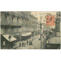 carte postale ancienne 44 SAINT-NAZAIRE. La Rue de Nantes 1906