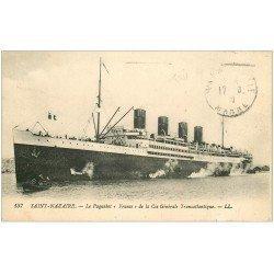 """carte postale ancienne 44 SAINT-NAZAIRE. Le Paquebot """""""" FRANCE """""""" 1929"""