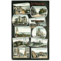 carte postale ancienne 44 SAINT-NAZAIRE. Multivues 1907