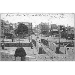 carte postale ancienne 44 SAINT-NAZAIRE. Pont Roulant Place du Bassin 1916. rue Ville-es-Martin