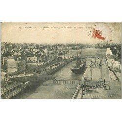 carte postale ancienne 44 SAINT-NAZAIRE. Port et Ecluse