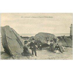 carte postale ancienne 44 SAINT-NAZAIRE. Rocher et Phare Ville-es-Martin 1906