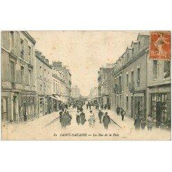 carte postale ancienne 44 SAINT-NAZAIRE. Rue de la Paix